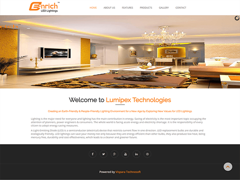 Lumipex Technologies web design and development