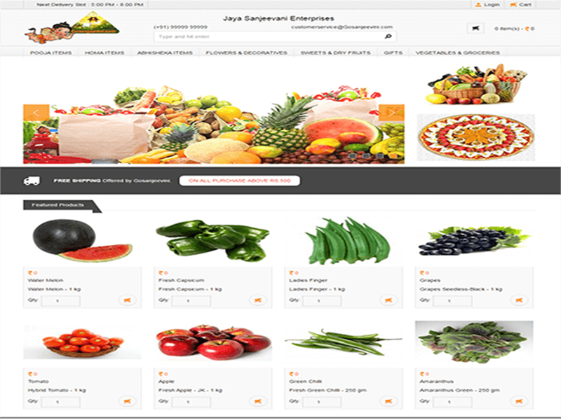 GoSanjeevani Ecommerce Website development